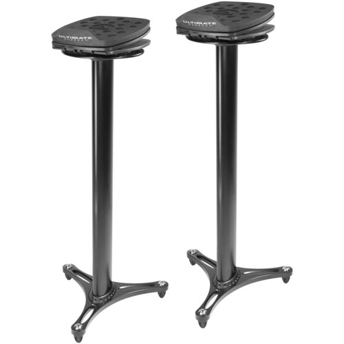 Ultimate Support MS-100 Second-Generation Column Studio Monitor Stands (Black, Pair)