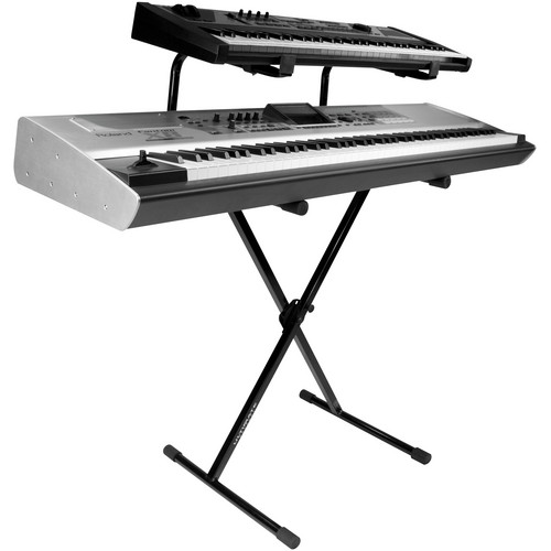 Ultimate Support IQ-1200 Single Brace Two-tier X-Style Keyboard Stand