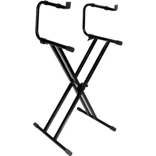 Ultimate Support IQ-2200 Double Brace Two-tier X-Style Keyboard Stand