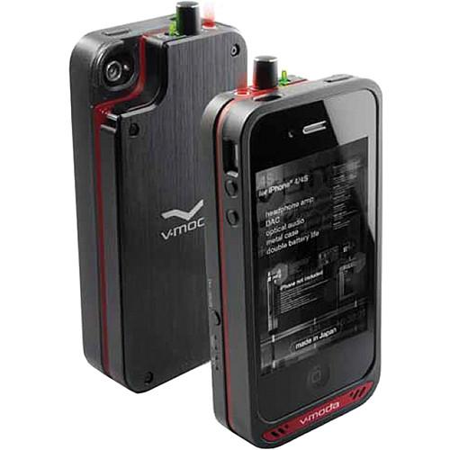 V-MODA Vamp Headphone Amp / Battery Pack for iPhone 4/4S (Black/Red)