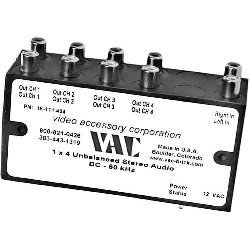Vac 1x4 Unbalanced Mono Audio Distribution Amplifier