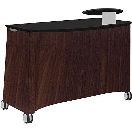 Vaddio Instrukt Teaching Station with Casters (Oiled Cherry)