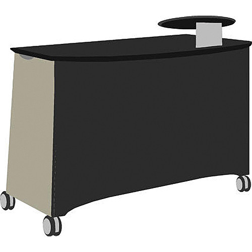 Vaddio Instrukt Teaching Station with Casters (Gray/Black)