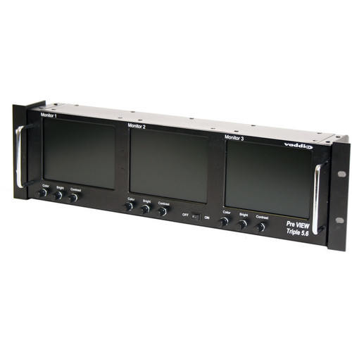 "Vaddio PreVIEW Triple LCD Rack Mount Monitor (5.6"")"