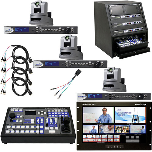 Vaddio HD-20 CAT 5 Camera-Pan/Tilt/Zoom and Auto HD Monitor System Package