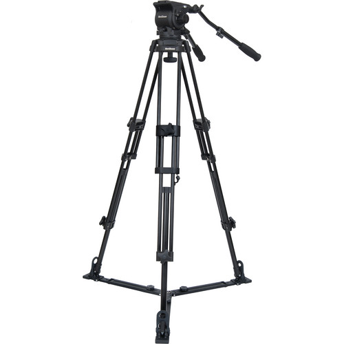 VariZoom TK100A Aluminum Video Tripod System with Fluid Head & Floor Spreader