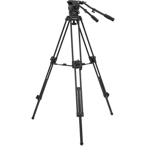 VariZoom TK100AM Aluminum Video Tripod System with Fluid Head & Mid-Level Spreader