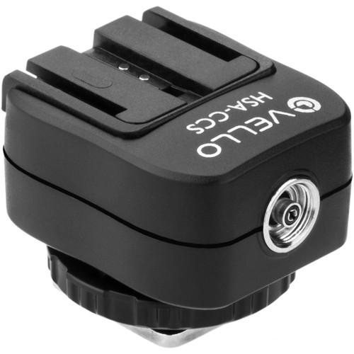 Vello Hot Shoe Adapter - Converts Standard Hot Shoe to Sony Hot Shoe + PC Socket