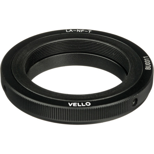 Vello T-Mount Lens to Nikon F-Mount Camera Lens Adapter