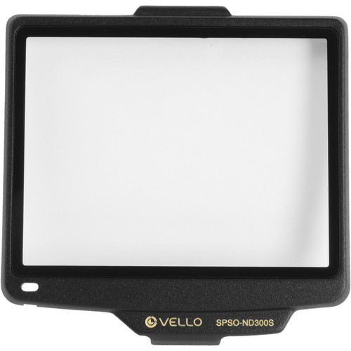 Vello Snap-On Glass LCD Screen Protector for Nikon D300 & D300s