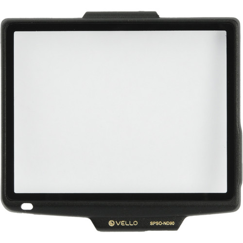 Vello Snap-On Glass LCD Screen Protector for Nikon D90
