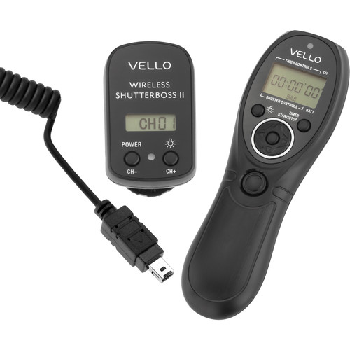 Vello Wireless ShutterBoss II Remote Switch with Digital Timer Kit (for Select Nikon DSLRs)