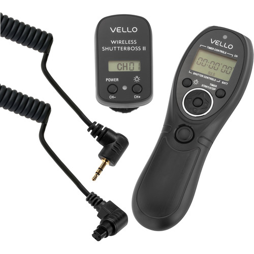 Vello Wireless ShutterBoss Timer Remote Kit (For Select Olympus & Canon)