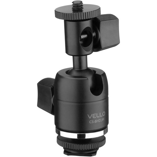 Vello Multi-Function Ball Head with Removable Bottom Shoe Mount, w/Umbrella Mount