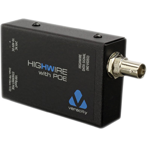 Veracity Highwire Ethernet over Coax Converter with PoE
