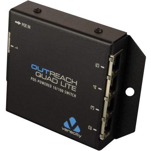 Veracity Outreach Quad Lite PoE-Powered Switch