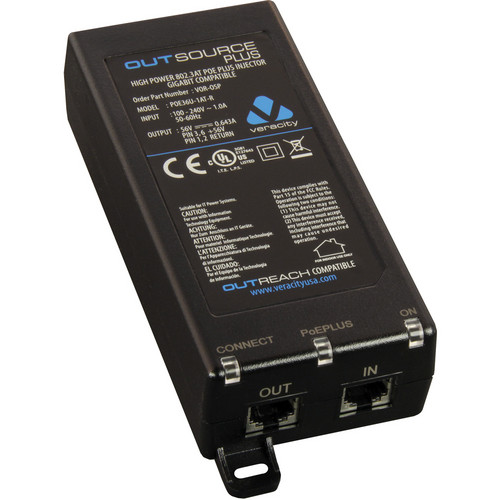 Veracity Outsource Plus Midspan PoE Injector
