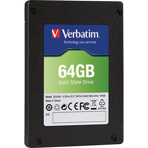 "Verbatim 64 GB SATA II 2.5"" Internal Solid State Drive Upgrade Kit"