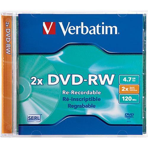 Verbatim DVD-RW 4.7GB, 2x Recordable Disc in Jewel Case
