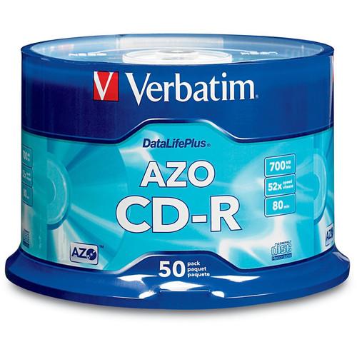 verbatim cd r 700mb datalifeplus disc 50 94523 b h photo video. Black Bedroom Furniture Sets. Home Design Ideas