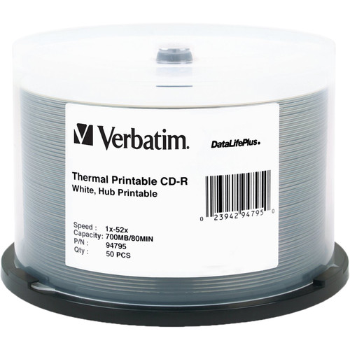 Verbatim CD-R White Thermal/Hub Disc (50)
