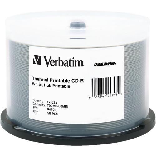 Verbatim CD-R White Thermal/Hub Disc (50)