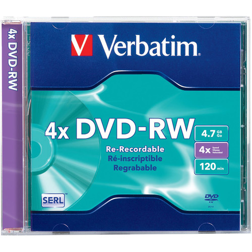 Verbatim DVD-RW 4.7GB, 4x Recordable Disc in Jewel Case