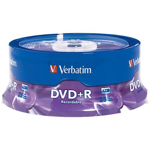 Verbatim DVD+R 4.7GB 16x Disc (25 Pack)