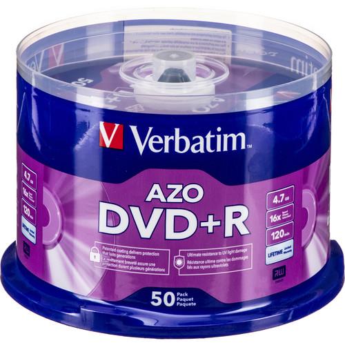 Verbatim DVD+R 4.7GB 16x Disc (50 Pack)