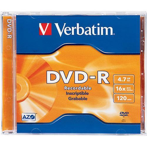 Verbatim DVD-R 4.7GB 16X Branded Surface with Jewel Case