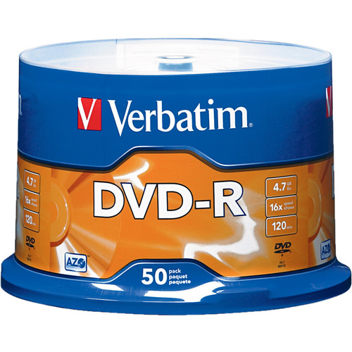 Verbatim DVD-R 4.76GB 16X (50)