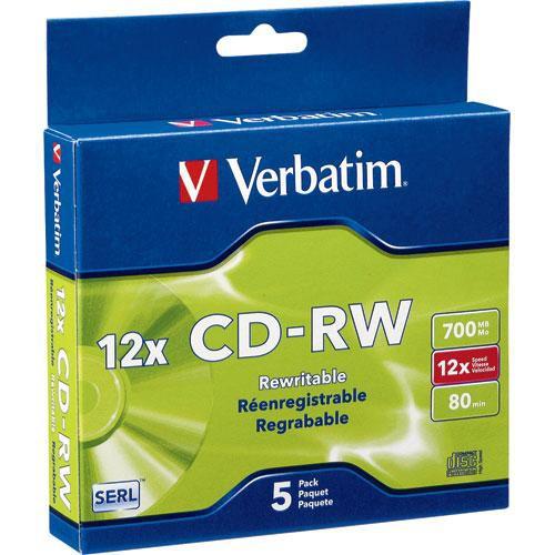 Verbatim CD-RW 700MB Rewritable Disc (5)