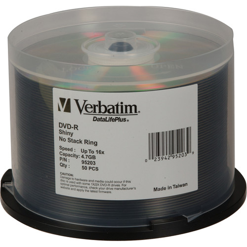 Verbatim DVD-R 4.76GB 16X DataLifePlus (50)