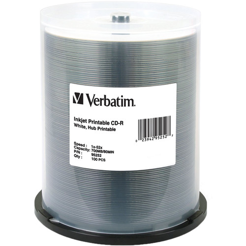 Verbatim CD-R White Hub Printable Disc (100)