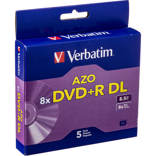 Verbatim DVD+R Double Layer, Recordable Disc in Jewel Case (Pack of 5)