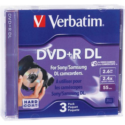 Verbatim 2.6GB 4x DigitalMovie Mini DVD+R Discs - 3 Pack