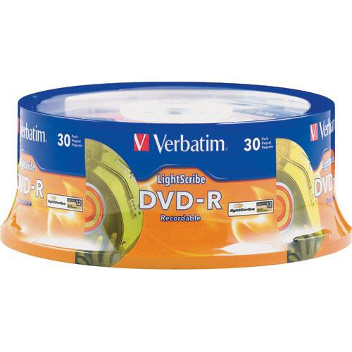 Verbatim DVD-R LightScribe Printable Recordable Disc (Spindle Pack of 30)