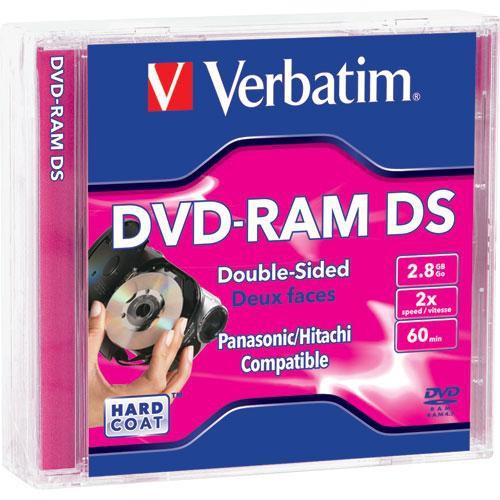 Verbatim Mini DVD-RAM 2.8GB Double-Sided Disc (3)