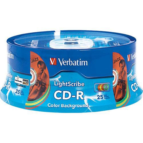 Verbatim CD-R LightScribe Color Recordable Compact Disc (Spindle Pack of 25)