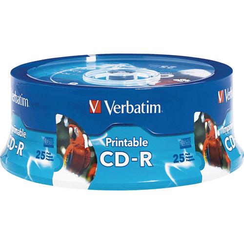 Verbatim CD-R White Inkjet/Hub Printable Disc (25)