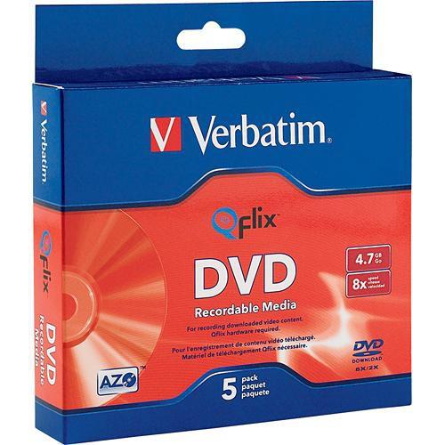Verbatim DVD-R Branded Qflix Media (Slim Case Pack of 5)