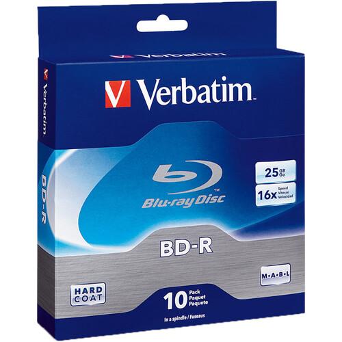 Verbatim BD-R Blu-Ray 25GB 16x (10 Pack Spindle)