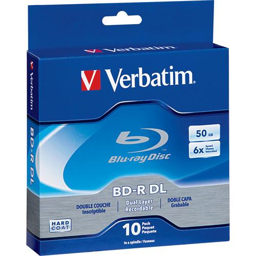 Verbatim 50GB 6x Blu-ray Disc (10-Pack Spindle)