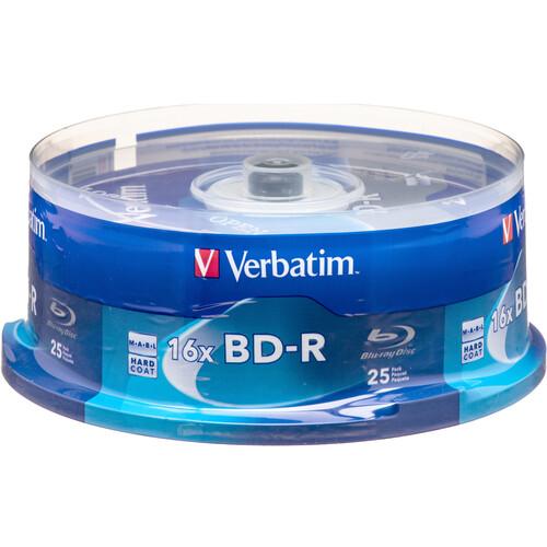 Verbatim BD-R Blu-Ray 25GB 6x (25 Pack Spindle)