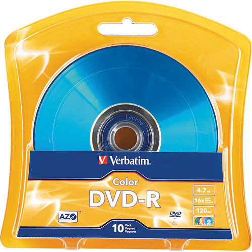Verbatim AZO DVD-R Colors (4.7 GB/120 Minutes)