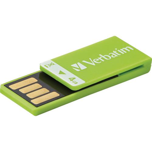 Verbatim 4GB Clip-It USB Flash Drive (Green)