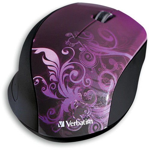 Verbatim Wireless Optical Design Mouse (Purple Design)