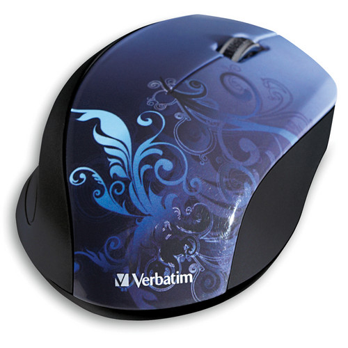 Verbatim Wireless Optical Design Mouse (Blue Design)