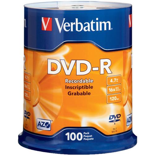 Verbatim DVD-R 4.76GB 16X (100 Pack)