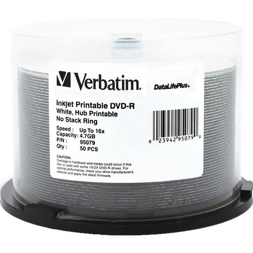 Verbatim DVD-R 4.7GB 16X Printable DataLifePlus (50-Pack)